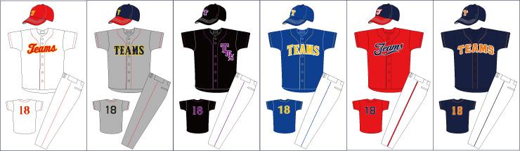オーダー 野球ユニフォームシャツ TYPE-28 デザイン